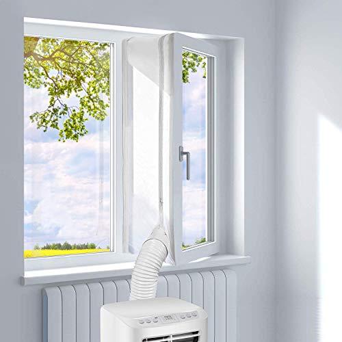 JOYUE Cubierta Aislante para Ventanas para Aparatos de Aire Acondicionado Portátiles y Secadoras, Fácil Instalación Evita la Entrada de Mosquitos (3M)