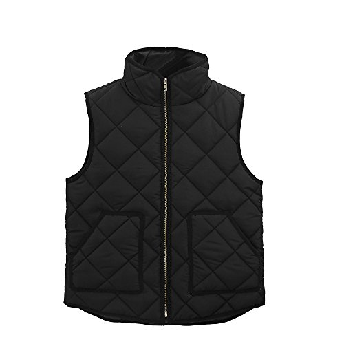 OPAKY - Abrigo de Bolsillo para Mujer, sin Mangas, Chaleco Negro L