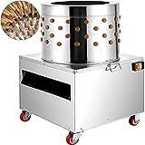 VEVOR Stainless Steel Chicken Plucker Turkey Poultry Defeather Plucking Machine 23.5Inch, 2200W 240R/Min