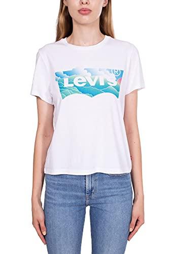 Levi's - Kurzes Damen-T-Shirt mit Batwing Logo, weiß, Medium