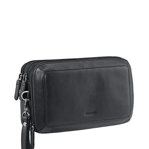 Picard Wrist Bag 3 compartments Retro cuir 15 x 23 x 5 cm (H/B/T) Unisexe sacs à main (9057)