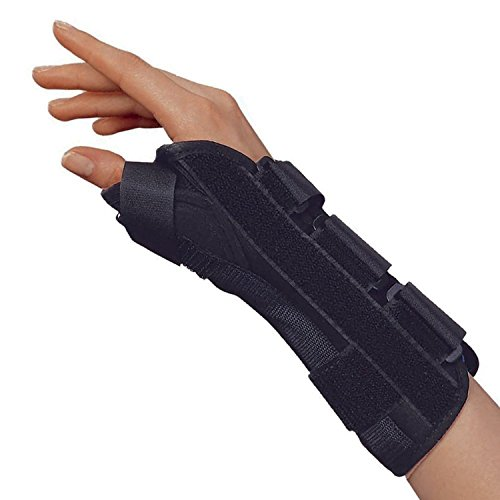 OTC Wrist-Thumb Splint, 8-Inch Adult, Lightweight Breathable, X-Small (Right Hand)