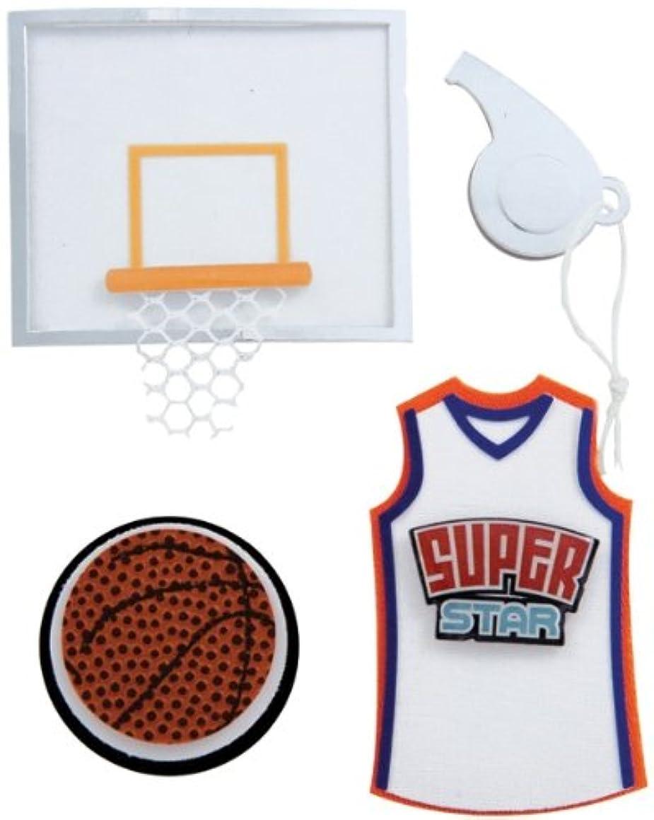 Karen Foster Basketball Design Scrapbooking and Craft Embellishment Stacked Sticker