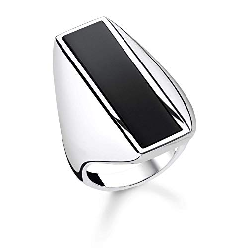 THOMAS SABO Damen Ring Onyx 925er Sterlingsilber TR2220-024-11