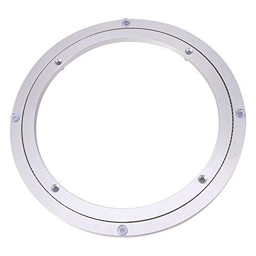 Swivel Turntable, Heavy Duty Aluminium Alloy Round Dining Table Smooth Swivel Plate for Kaleidoscopes Tabletop Serving Trade Show Displays(10 inch)