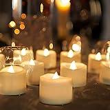 Homemory 48-Pack Battery Tea Lights Bulk, Flameless LED Tea Lights, with Soft Flickering, Long Lasting Battery Life, Warm White Light, Ideal for Christmas Decor