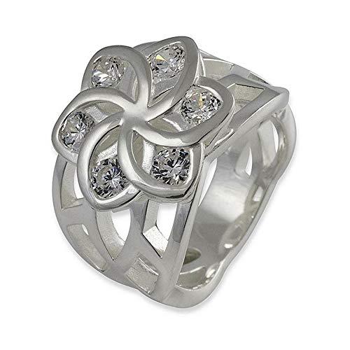 Herr der Ringe/Hobbit Schmuck by Schumann Design Elben Ring aus 925 Silber Flowers 10004106