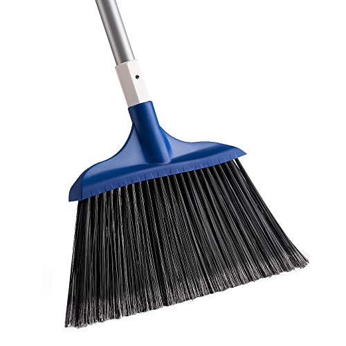 Yocada Heavy-Duty Broom Outdoor Commercial Perfect for Courtyard Garage Lobby Mall Market Floor Home Kitchen Room Office Pet Hair Rubbish 54Inch Blue