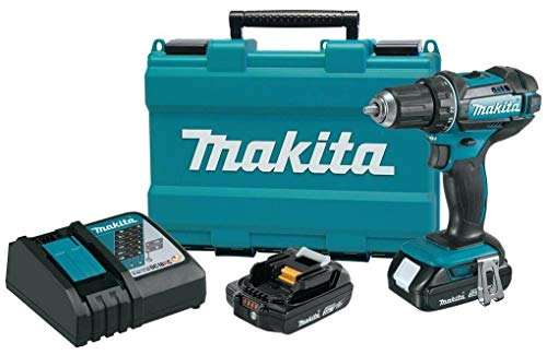 Makita 1/2' 18V Compact Lithium-Ion Cordless Driver-Drill Kit, XFD10R (Renewed)
