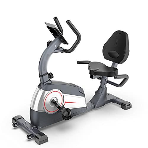 Bicicleta estática reclinada, bicicleta giratoria con control magnético para el hogar, equipo de entrenamiento de rehabilitación para adultos mayores y mayores en interiores, bicicleta de pedales