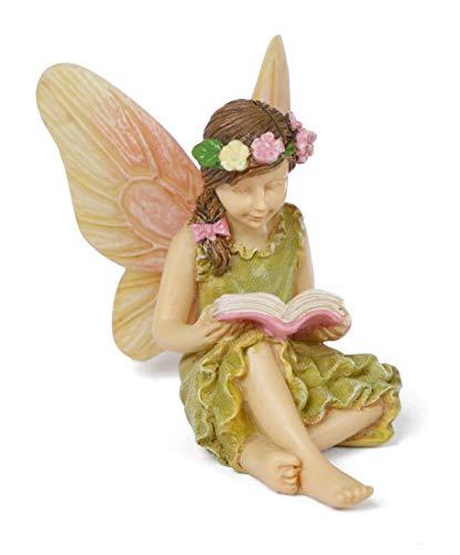 Miniature Fairy Garden 'A Good Read' Fairy Girl Reading a Book