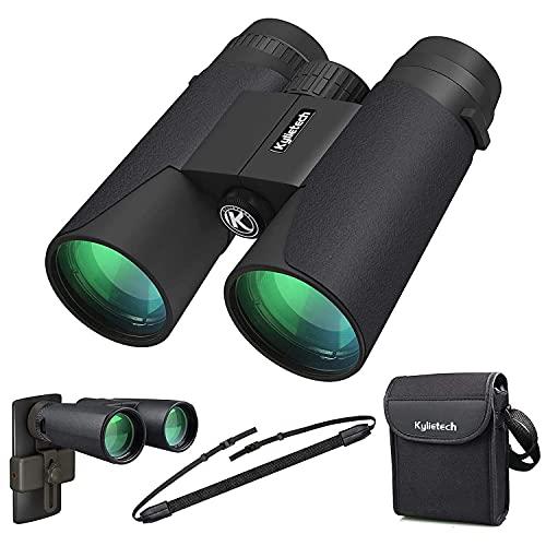 Kylietech Binocolo 12x42 HD Binocolo Compatto Impermeabile per Osservazione Uccelli, Escursionismo,...