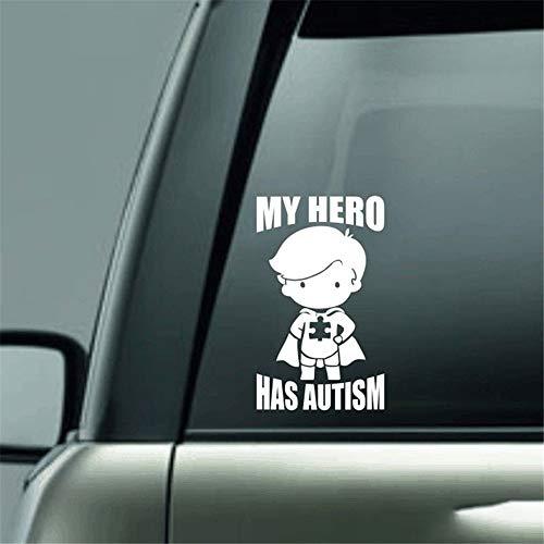 pegatina de pared pegatina de pared 3d Mi héroe tiene autismo niño calcomanía etiqueta engomada para el coche camión calcomanías portátiles pintura del arte pegatinas de coches decoración calcomanías
