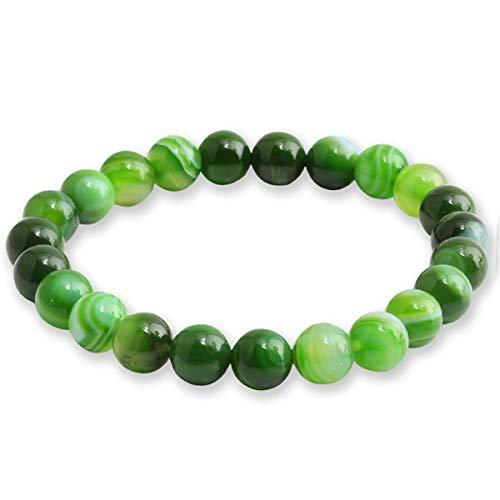 Braccialetti di Beads Bracciale Pietre Naturali Perle Bracciali Pietra Lavica Bangles Bracciale Alabastro ( Color : Green , Size : One Size )