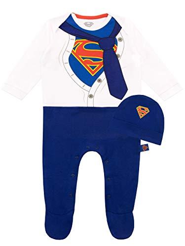 DC Comics Pijama Entera para Niños Bebés Superman Azul 0-3 Meses