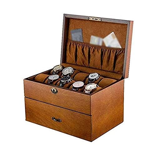 NuanXing Organizador de Caja de joyería Soporte de Caja de Reloj de joyería Almacenamiento de exhibición Caja de joyería Organizador de Caja de Reloj para Hombres y Mujeres Cajas de joyería