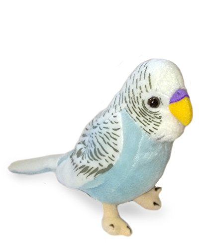BUDGERIGAR Soft Toy - BLUE Budgie - 20cm