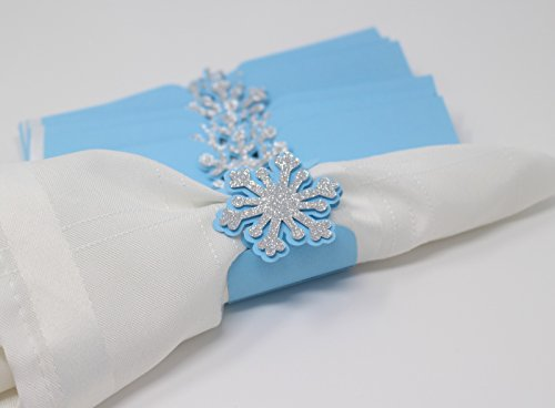 All About Details™ Snowflakes Napkin Holders (Light Blue & Silver)
