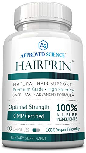Hairprin - Promote Hair Regrowth and Help Boost Scalp Circulation. 60 Vegan Friendly Capsules. 1 Bottle Supply