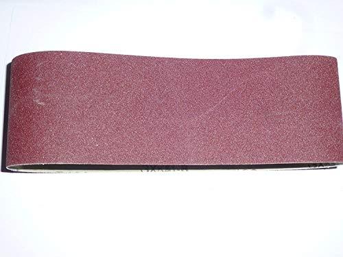10 Stk. Gewebe-Schleifbänder 100x560 mm für Bandschleifer Mix Korn K40/60/80/120/180 Schleifband …