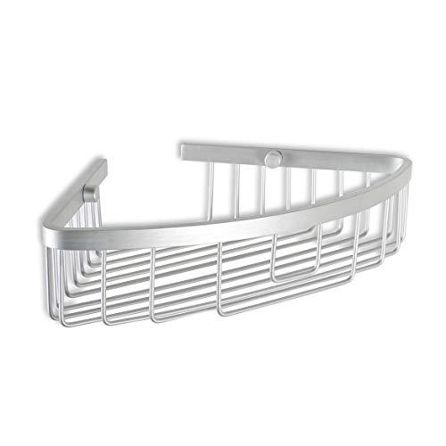 Tatay - Ice Cesta de Ducha o Bañera Ovalada para la Pared. Fabricada Aluminio Resistente a la Oxidación. Medidas 30 x 22 x 6,5 cm (L x An x Al)