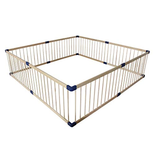 Review Baby playpen for Baby & Toddler Safety Play Yard, Wooden 3 in 1 Indoor Children's Game Fence Room Divider – 190×190cm/200×200cm (Size : 200×200cm)