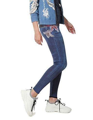 Desigual Damen NALA Woman Blue Leggings, Blau (Tinta 5011), W28(Herstellergröße: M)