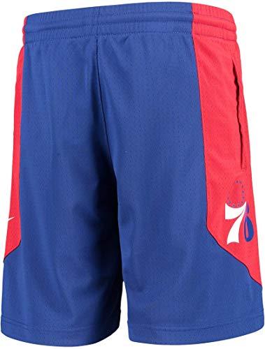 Outerstuff NBA Youth 8-20 Primäre Logo Performance Practice Shorts (Jugendliche – L, Philadelphia 76ers Blau)