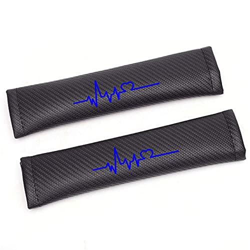 BENHAI 2pcs Almohadillas para CinturóN De Seguridad, Compatible para Ford Ranger Taurus X Fibra De Carbono ProteccióN Hombros Confort Acolchado Protector Clip