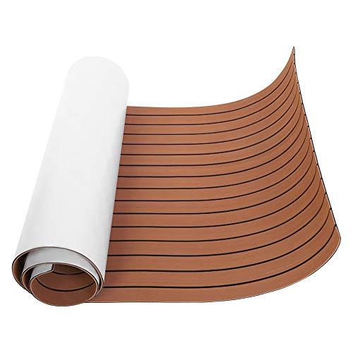 Victool PVC Bodenbelag für Yacht, Eva Teak Decking Sheet Bootsboden Matte Deckbeschläge für Boote Marine Rutschfester Teppich mit Kleber