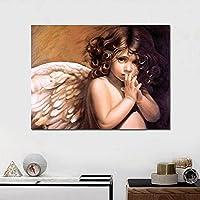 かわいい天使の羽の少女 大人のためのダイヤモンドペインティングキット、アクセサリーツール付きの5Dクリスタルダイヤモンドアート、家の装飾ギフトのための写真DIYアートクラフト 50X70CM