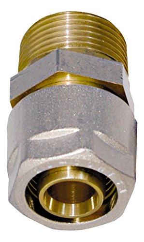 Wiroflex Klemmring-Verschraubung inklusive Adapter   Komplettlösung   Schraubsystem   26 mm x R1 AG   Für Mehrschichtverbundrohr