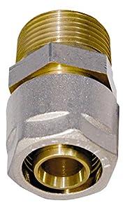 Wiroflex - Anillo de sujeción con adaptador (26 mm x 3/4 AG, para tubos multicapas)