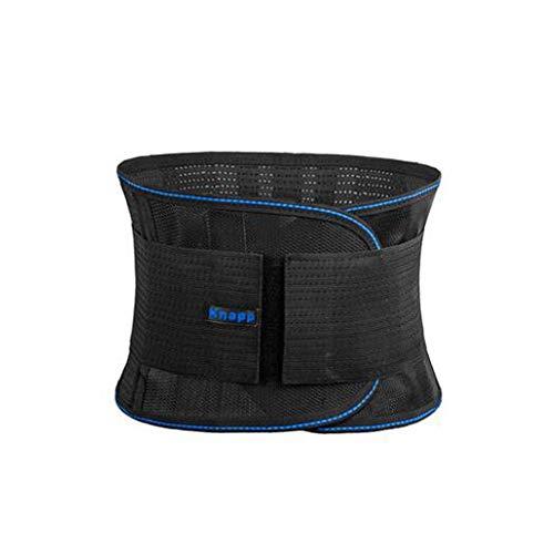 H.Y.S.M Sport Belt, Mannen dunne taille riem for Body Weight Loss Fitness Vetverbranding Trimmer Met Ondersteuning, Honeycomb ademend Zwart, meer specificaties beschikbaar (Color : Black, Size : L)