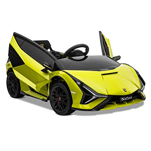 Kidzone Kids 12V Electric Ride On Licensed Lamborghini Sian...