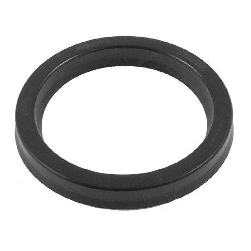 sourcing map USH 40mm x 50mm x 6mm hydraulisch Zylinder Gummi Öl Dichtung Ring schwarz