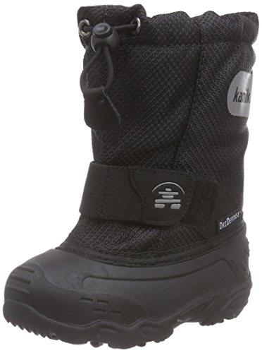 Kamik ICEPOP2 dziecięce buty zimowe z ciepłą wyściółką, czarny - Czarny Blk Black - 23 EU