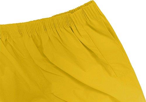 normani Überziehhose Regenhose wasserdichte, atmungsaktive Wetterschutzhose Farbe Gelb Größe 3XL - 3
