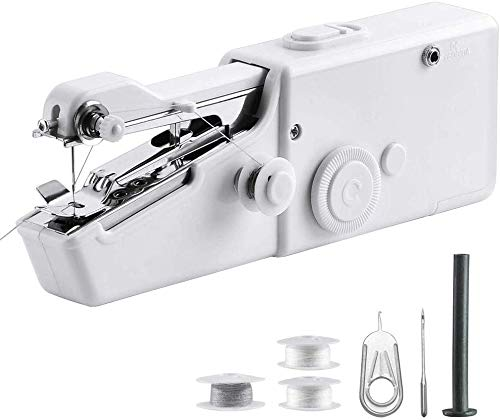 Portable Sewing Machine Handheld - Mini Hand Sewing Machine for Kids Beginners Home or Travel Sewing...
