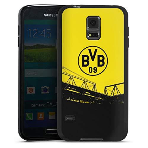 DeinDesign Silikon Hülle kompatibel mit Samsung Galaxy S5 Neo Case schwarz Handyhülle Borussia Dortmund BVB Fanartikel