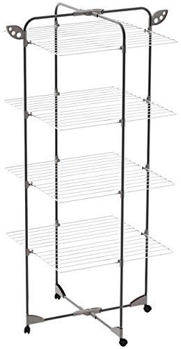 Colombo Leonardo - Escalera de 3 peldaños de Aluminio Negro anodizado, Talla única