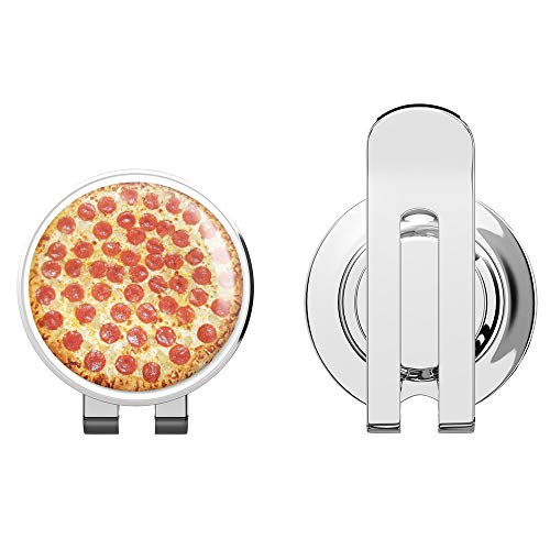 888 Graphics Pepperoni Pizza Delicious Food Golf Hat Clip with Magnetic Ball Marker