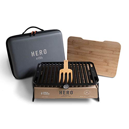 Fire & Flavor Hero Grilling System, Non-Stick, Dishwasher Safe Grill
