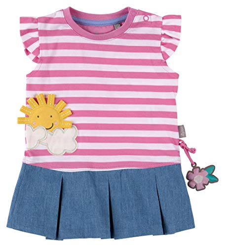 SIGIKID Baby - Mädchen Kleid Sommerkleid Kurzarm aus Bio-Baumwolle, abnehmbares Hangtoy, Mehrfarbig, 86