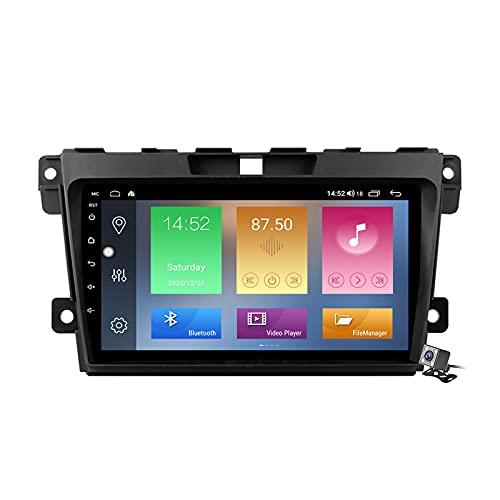 Android 10 GPS Navegación del Coche Estéreo para Mazda CX-7 2008-2015 con 9 Pulgada Táctil Soporte Split Screen/FM Am RDS Radio/Control del Volante/Carplay Android Auto,M500