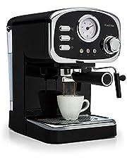 Klarstein Espressionata Gusto - Macchina per Caffè Espresso, 15 Bar, Serbatoio: 1 L, 1100W, Indicatore di Temperatura, Tecnologia Easy Brewing, Nero