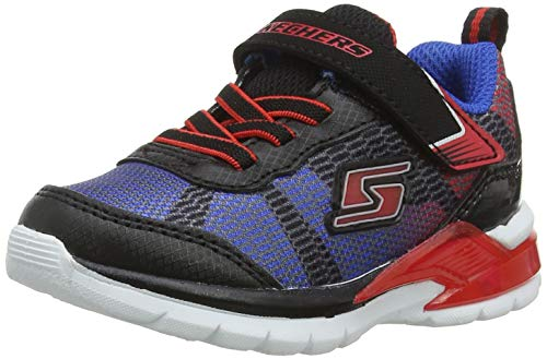 Skechers Erupters Ii-Lava Waves Sneaker, Mehrfarbig (Black/Blue/Lime Bkrb), 21 EU