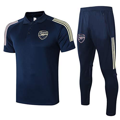 LQRYJDZ Chándal de fútbol para Hombre Spring otoño Adulto chándal, Arsenal fútbol Club de Entrenamiento Traje Traje Traje de Ruta de Competencia Camiseta Top + Pantalones Largos (Size : L)