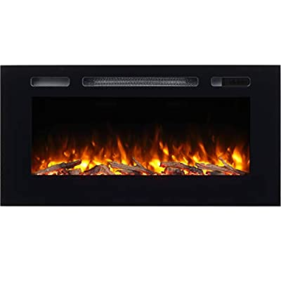 Hawnby Recessed Electric Fire 220/240Vac, 1&2kW, Log Set & Crystal, 7 Day Programmable Remote Control