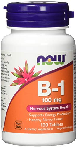 Now Foods B-1, 100 tabs 100 mg